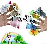 10x Demarkt® Fingerpuppen Fingerspiel Fingertiere Handkasperletheater Puppets