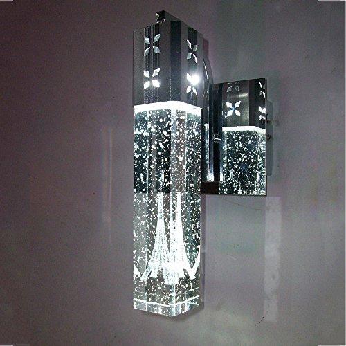YYHAOGE Led Kristall Leuchte Kristall Lampe Nachttischlampe Bubble Bubble Spalte Objektiv Scheinwerfer Zimmer, Doppelzimmer Blau Licht Kopf