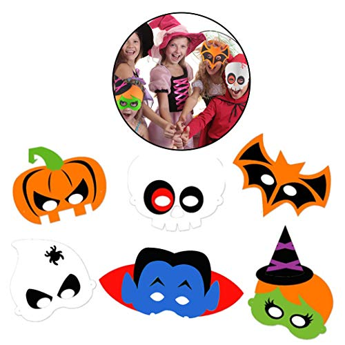 Joyibay 6 stÜcke Halloween Maske Kreative Cartoon DIY Eva Party Maske Kostüm Maske für Kinder