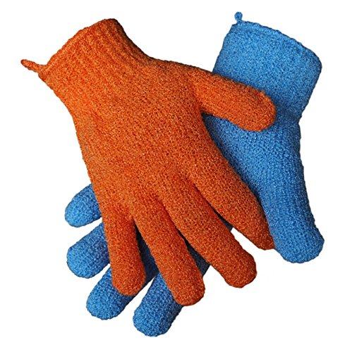 2 Paar (4 Stk) Peeling-Handschuhe, 2 Größen