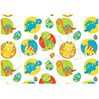 A4 glaseado hoja pastel comestible fondo adornos – NWP26 dinosaurios