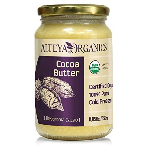 Alteya Bio Kakaobutter 350ml - 100% USDA Organic-zertifiziert Rein Natürlich Raffinierte Kakaobutter (Theobroma Cacao) - Natürliche Kakaobutter