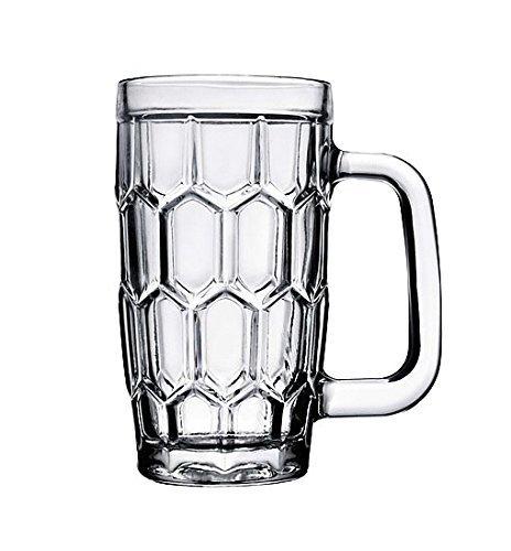 Fashions Trendz Tableware Glassware & Drinkware Beer Mug Pack of 6 Pcs Wine Mug in Transparent Glass