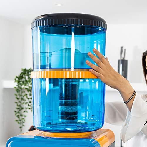 ECODE Deposito purificador de agua 7 niveles de purificacion 20 litros Filter Tower, Filtros recambio...