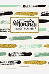 Undated Monthly Budget Planner: Large Annual Financial Budget Planner And Tracker With Inspirational Quotes Mint & Gold (Household Budget Planner) Paperback