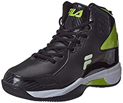 Fila Mens Ball Hand Black and Lime Basketball Shoes -8 UK/India (42 EU)