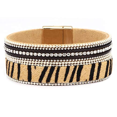 SGRMYS Leopardenmuster Armband breit übertrieben Nachtclub Wilde Persönlichkeit Armband - Tiger Tanz Kostüm