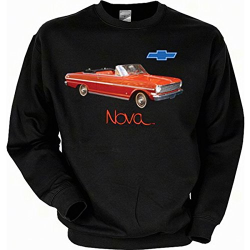 Chevrolet Chevy II Nova Convertible Sweatshirt Gr XXL in schwarz (Nova-kostüm)