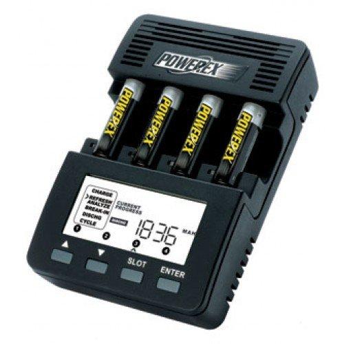 Powerex Maha MH-C9000 - Caricabatteria-analizzatore WizardOne per 4 battere