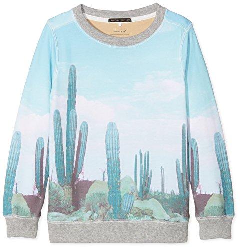 NAME IT Jungen NKMJOEY UNB SWE Sweatshirt, Mehrfarbig Dusty Aqua, 146 -