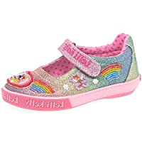 Lelli Kelly Rainbow Sparkle Dolly Girls Infant Canvas Shoes 10 Std Unless Stated in Colour Multi Glitter