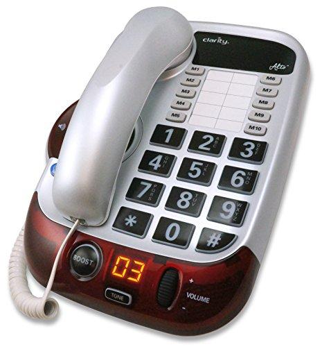 Clarity 54005 Corded Landline Phone (White)
