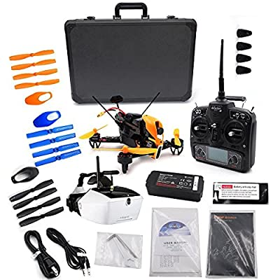 Walkera F210 3D FPV Drone with Devo 7 +Goggle4 HD Glasses + ABS Waterproof Carry Case Box