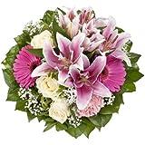 """Amazon.de Pflanzenservice Blumenstrauß """"Laura"""" mit rosa Lilien"""