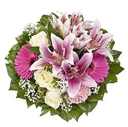 Dominik Blumen Und Pflanzen, Blumenstrauß Laura Mit Rosa Lilien