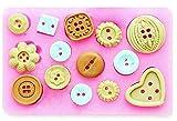 Stampo Silicone Bottoni da Sarta - Pasta di Zucchero - Fondenti - Torte - Pancake - Muffin - Decorazioni - Uso Alimentare - Cucina - Idea Regalo Natale e Compleanno