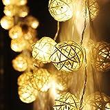 Ascension 16 Leds 3 Meter Globe Rattan Ball Led String Lights , (Warm White) (Set Of 1)