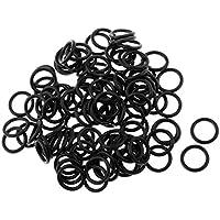 MagiDeal 100 Stück Angelruten Ringe O-Ringe Kit Karpfen Angelschnur Stecker Zubehör