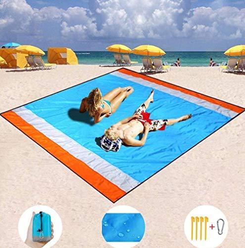 Strandmatte Outdoor Sand Free Stranddecke Picknickmatte Ultraleichte tragbare wasserdichte Matte Quick Compact Pocket Outdoor Mat 130x150cm -