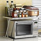 Dongyd Cremagliera elettrica del fornello di Riso dell'Acciaio Inossidabile del Doppio della cremagliera della Cucina 56.5 * 36.5 * 36.9cm