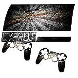Zerrissen Flagge Zypern, Designfolie Sticker Skin Aufkleber Schutzfolie mit Farbenfrohem Design für PlayStation 3 Fat