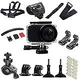 zhang-hongjun,Action Camera Accessories Set Fotocamera Impermeabile Mijia Impermeabile da 45 Metri(Color:Nero)