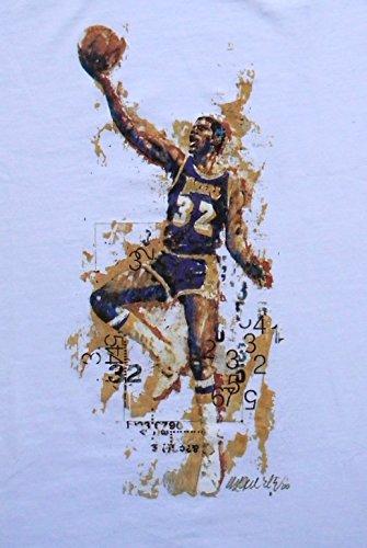 Sidney Maurer Magic Johnson, Herren T-Shirt, Basketball Weiß