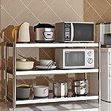 WXP Kitchen furniture - Edelstahl-Standboden-mehrschichtiges Regal-Mikrowellen-Ofengestell (Größe: 100X40X90CM) -Küchenschränke und Besteckschränke