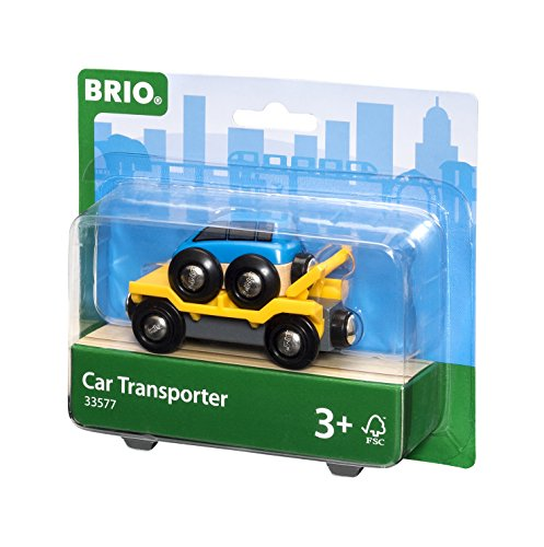 BRIO World  - 33577 - WAGON TRANSPORT DE VOITURE AVEC RAMPE