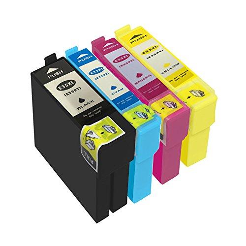 Preisvergleich Produktbild DOREE 4er Pack Ersatz für Epson 35XL T35XL T3591 T3592 T3593 T3594 Tintenpatronen Kompatibel mit Epson WorkForce Pro WF-4740DTWF WF-4730DTW WF-4720DW WF-4725DW Drucker