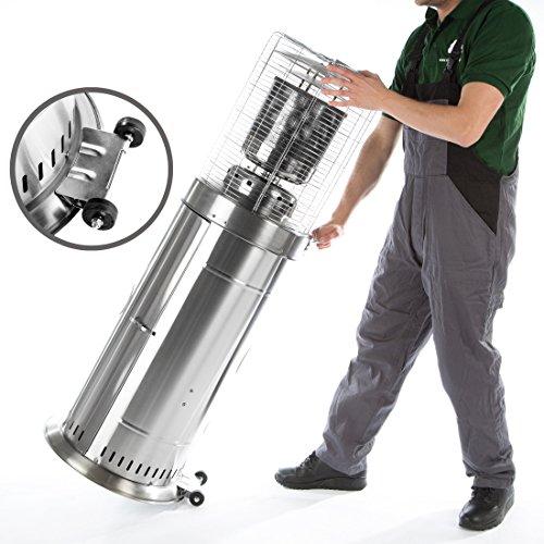 Ultranatura Edelstahl Gas-Heizstrahler GH-12 – Terrassenheizung regelbar bis 12 KW; - 4