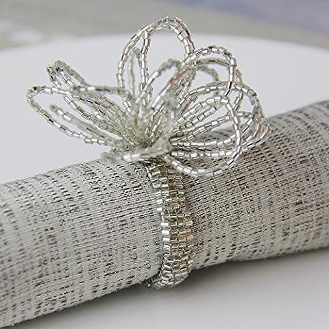 YMJ Hotel servilleta decorativa cierres servilleta anillo biselado