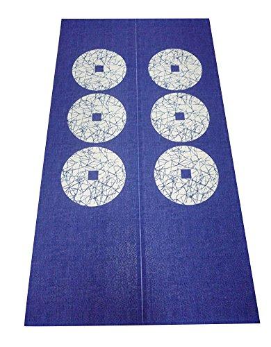 japanischen Noren Vorhang & Doorway Vorhang mit Zugstabsysteme 85x150cm (Hippie-perlen-tür)