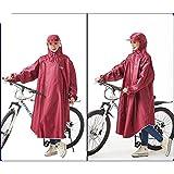 XKS Fahrrad Regenmäntel Einzelschüler Männer Und Frauen Mode Hüte Mit Ärmeln Dicker Aufgeblasener Poncho,#1