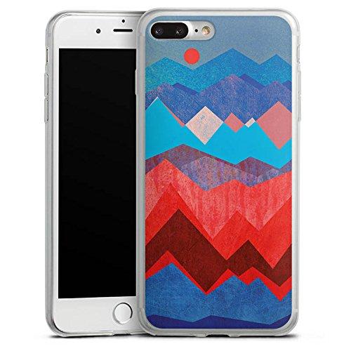 Apple iPhone 8 Plus Slim Case Silikon Hülle Schutzhülle Berge Muster Sonne Silikon Slim Case transparent