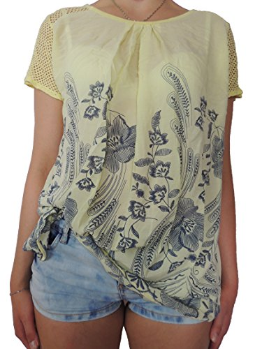 Viele verschiedene Farben Damen Blusen Shirts Größe 40 42 44 46 Gelb