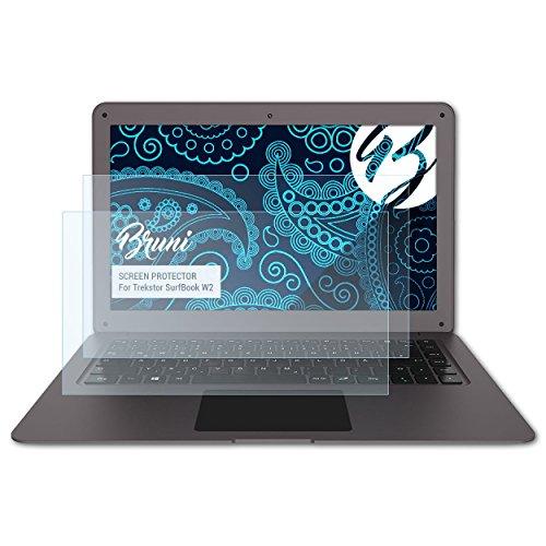 Bruni Schutzfolie kompatibel mit Trekstor SurfBook W2 Folie, glasklare Bildschirmschutzfolie (2X)