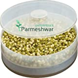 PALAK Premium 2 Containers Plastic Beans/Grains Health Plus Sprout Maker- All In One/Kitchen Tool/Kitchen Accessories/Utensils/Kitchen Gadgets (White)