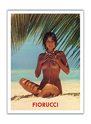 fiorucci-nude-girl-on-beach-vintage-advertising-poster-c1970s-hawaiian-premium-290gsm-giclee-art-pri