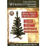 Künstlicher Tannenbaum grün Weihnachtsbaum 60cm Christbaum Ständer Weihnachten
