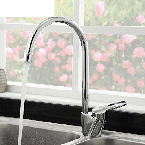 HCP Küchenarmatur/Warme und kalte Spültischbatterie/Einloch-Waschbecken-Armaturen/Drehbare Wasserhahn