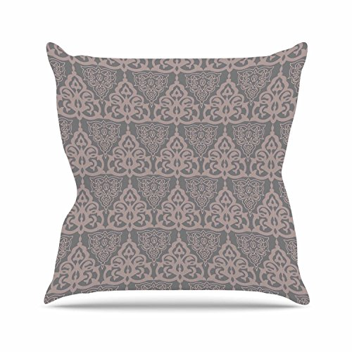 "KESS InHouse GU1014AOP03 18 x 18-Inch ""Gukuuki Jaffa Mosaic Maroon Pastel"" Outdoor Throw Cushion - Multi-Colour"