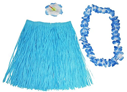Ansteckblume Kostüm - Hawaii Kostüm Set Flower 3-TLG. -