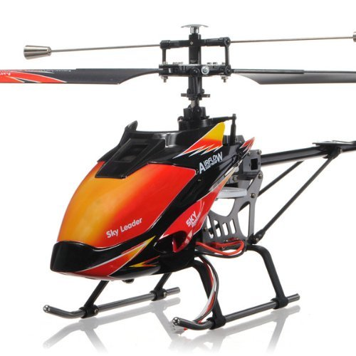 elegantstunning 3.5 Ch RC Helicopter Toy for Children Orange Fabric Gift