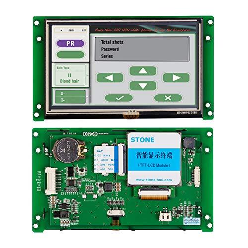 5 Zoll HMI Intelligentes TFT LCD Anzeigemodul mit Steuerung + Programm + Berührung + UART Serielle Schnittstelle -