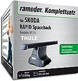 Rameder Komplettsatz, Dachträger SquareBar für Skoda Rapid Spaceback (132393-11519-1)