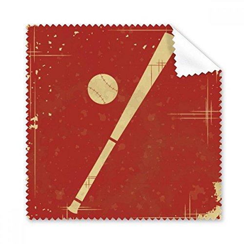 Sport Baseball Illustration rot Muster Brille Reinigungstuch Reinigungstuch Handy-Display von 5x Geschenk