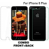 Ubon IPhone 8 Plus Front Back Hammer Proof Glass Armour Protector. Not a normal glass tempered glass its a Temper Proof / Shutter Proof / Unscratchable / X10 HD Transparency / Flexible Screen protector made with Mixture of glass and GradeA plastic [Free USB LED Light Worth 189]