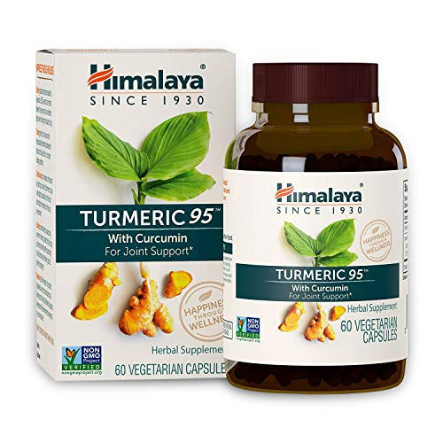 Himalaya Turmeric 95 with Curcumin |13.081mg di polvere por capsula | superalimentare che supporta la mobilità/digestione/immunità | antiossidante naturale | 60 capsule vegane | Per 2 mesi