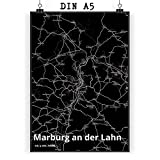 Mr. & Mrs. Panda Poster DIN A5 Stadt Marburg an der Lahn